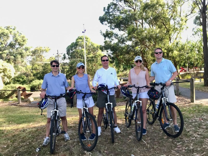 getting ready to cycle the warburton rail trail yarra valley