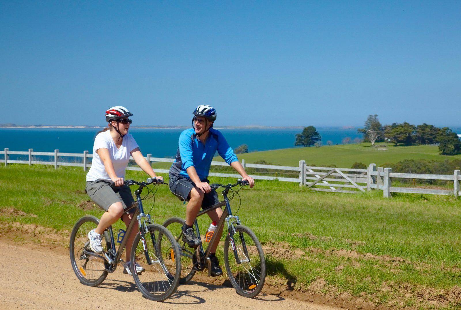 cycling along the coastal region of westernport bay on the mornington peninsula
