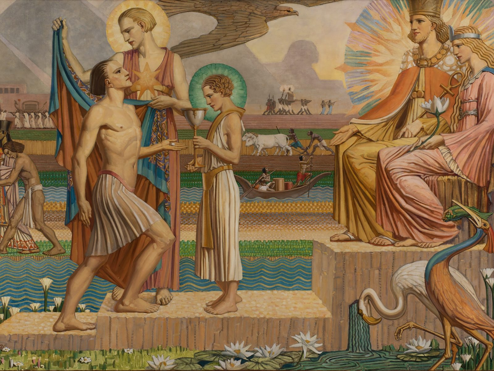 Christian Waller. The robe of glory 1937 Oil on canvas