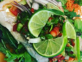 Steamed barramundi with lime