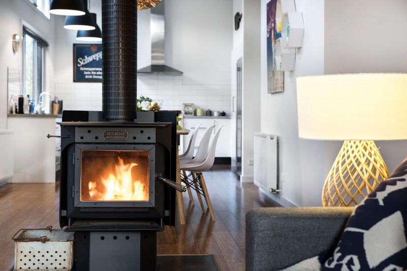 2 bedroom home with fire