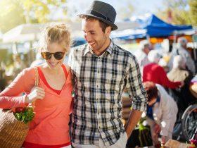 Couple attending a Market