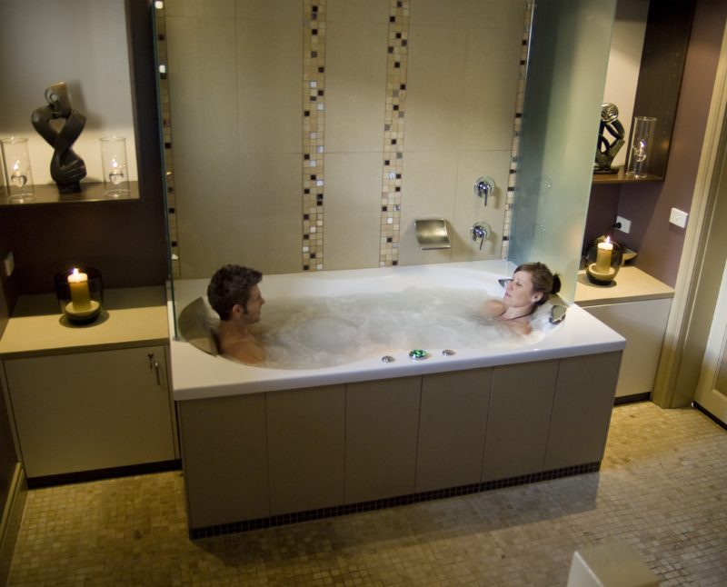 Relax in the private spa room