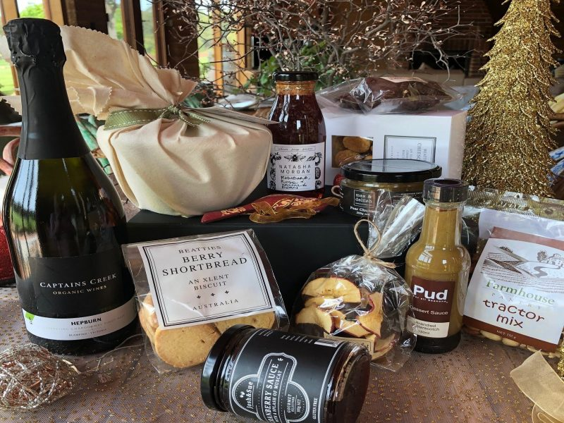 Sparkling wine, Pudding, brandy sauce, cordial, shortbreads, chocolate, nuts, chutney, muscat sauce