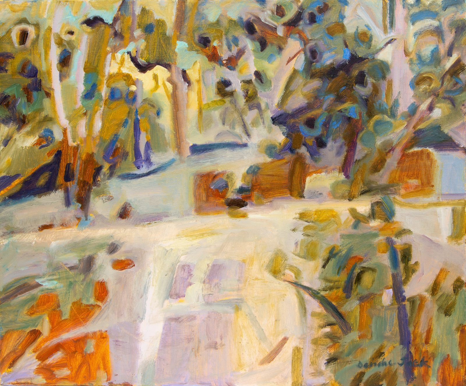 Deirdre Jack, Banksia Patterns Two, Cape Conran, Oil on canvas