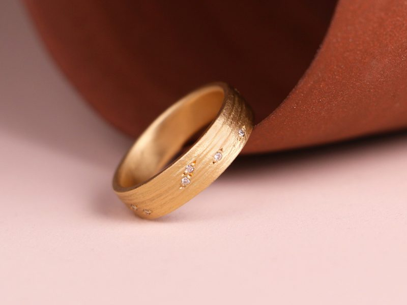 Ingrained Diamond Ring by Natalia Milosz-Piekarska