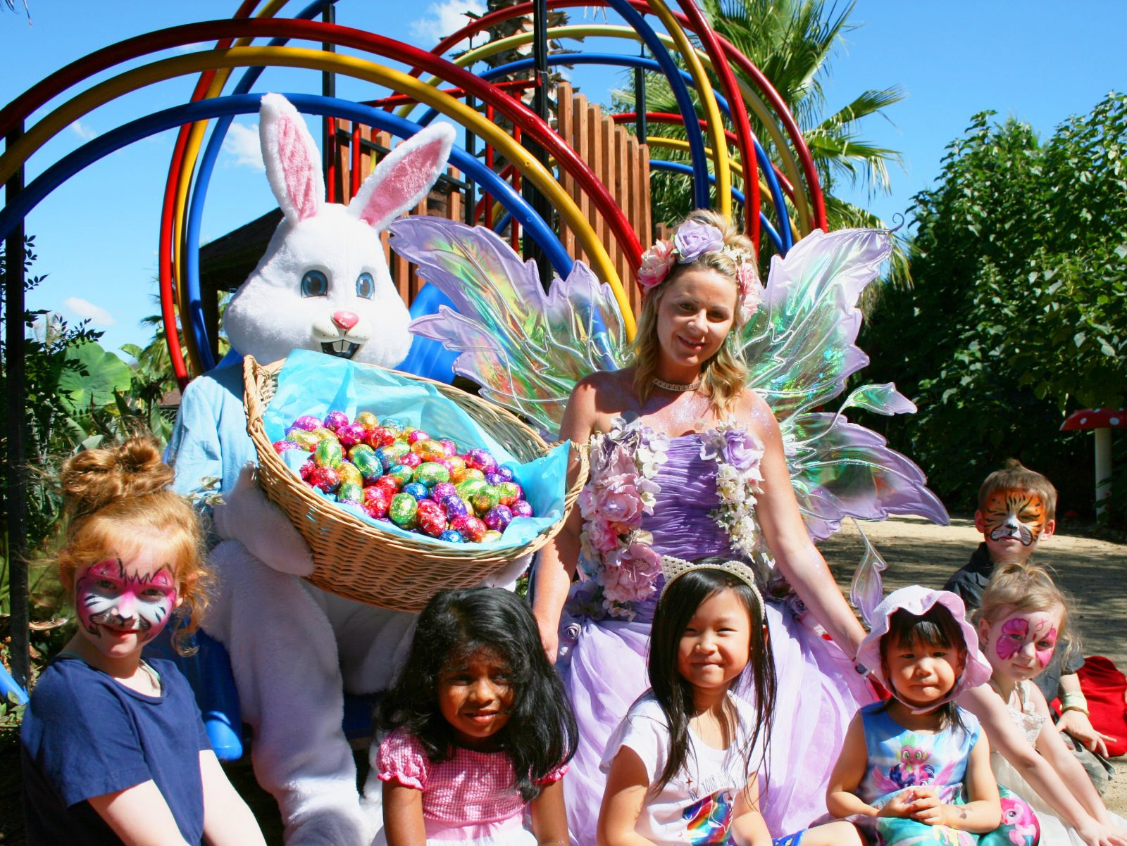 Easter Bunny with Fairy Queen