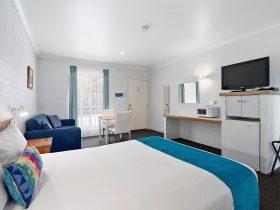 One Queen Bed Back Corner