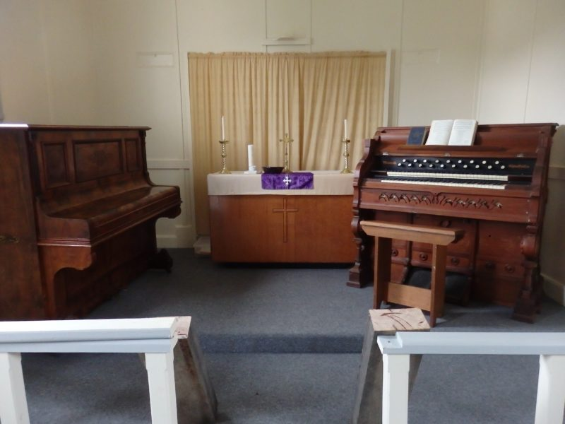 Altar area in church