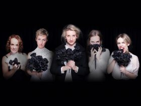 The cast of Enter Ophelia