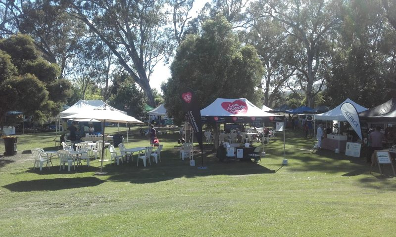 Market held in Rotary Park September to April