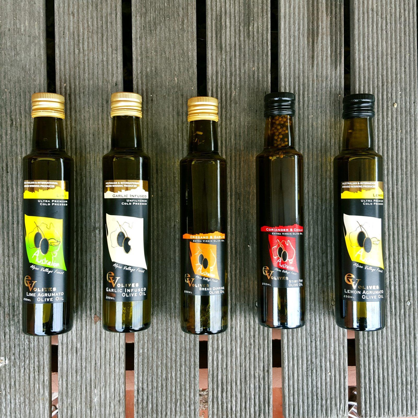 EV Olives oil range