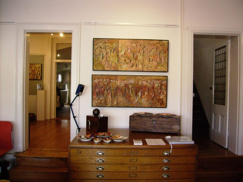 Exhibition: Michael Wolfe, 'Ironbark Cathedral', 2010, Acrylic paintings