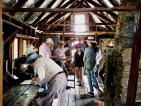 Inside Wallaces Hut