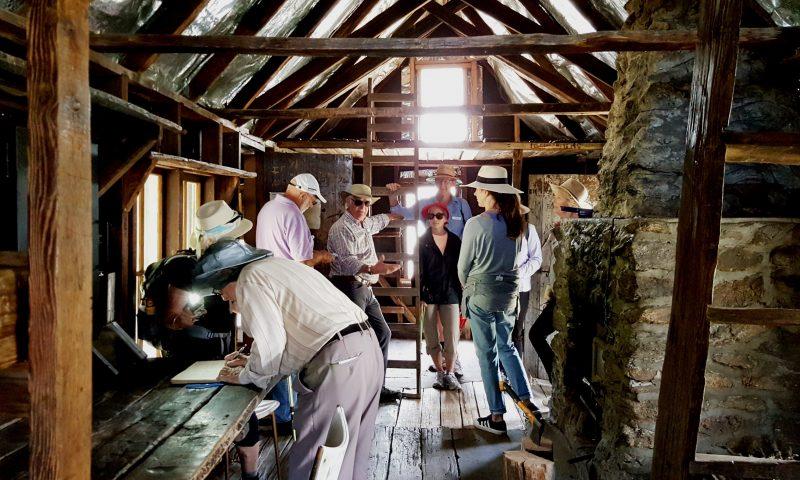 Inside Wallaces Hut