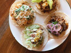 5 types o' tacos, $5 each
