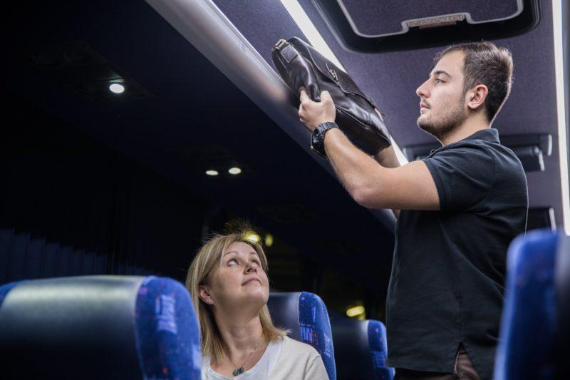 Inside a Firefly coach