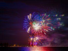 Fireworks over Lake Wendouree