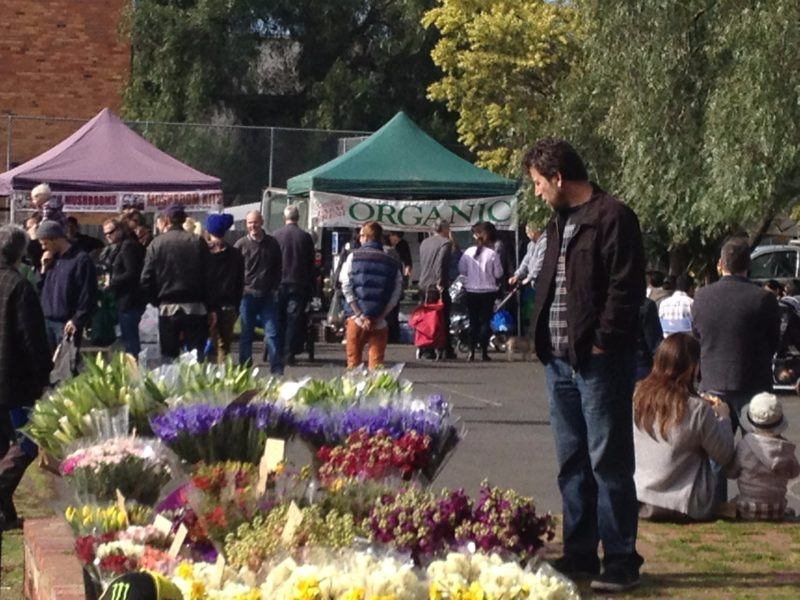 Fresh flowers at Flemington Farmers Market
