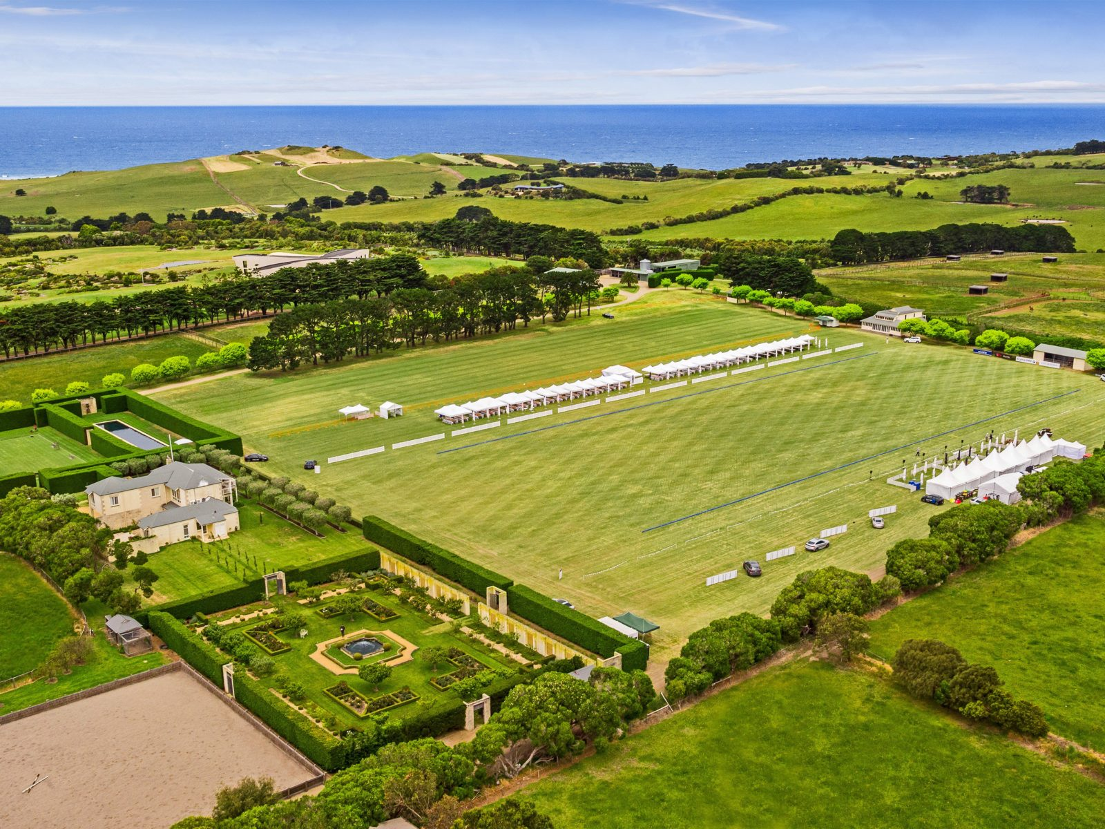 Bespoke, stunning and unique place to watch a game of Polo!