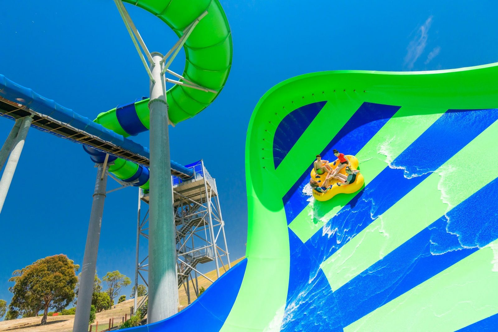 Experience Zero Gravity on the Gravity Wave Waterslide at Funfields