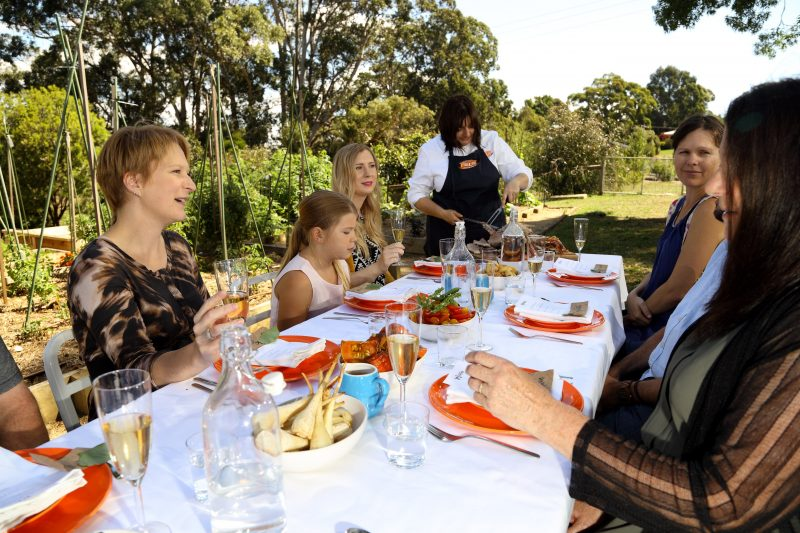 Pick, cook and share a garlic harvest lunch at Jacican, Gippsland