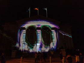 City Hall Projections at Geelong After Dark