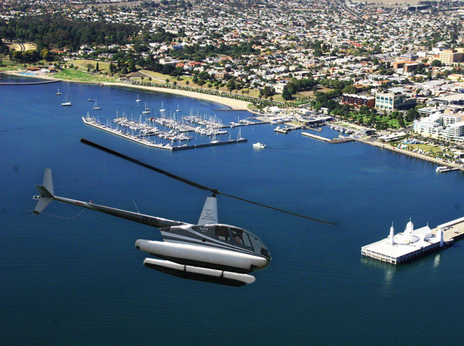 Helicopter flight over Corio Bay