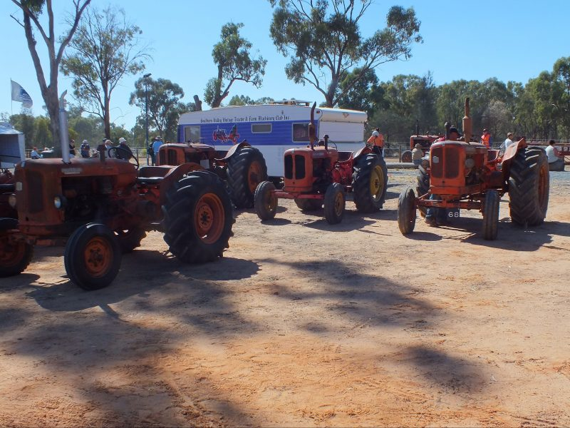 Goulburn Valley Vintage Tractor and Farm Machinery Club 35th Annual Rally - tractor display