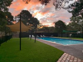 Grampians Sunset over the pool