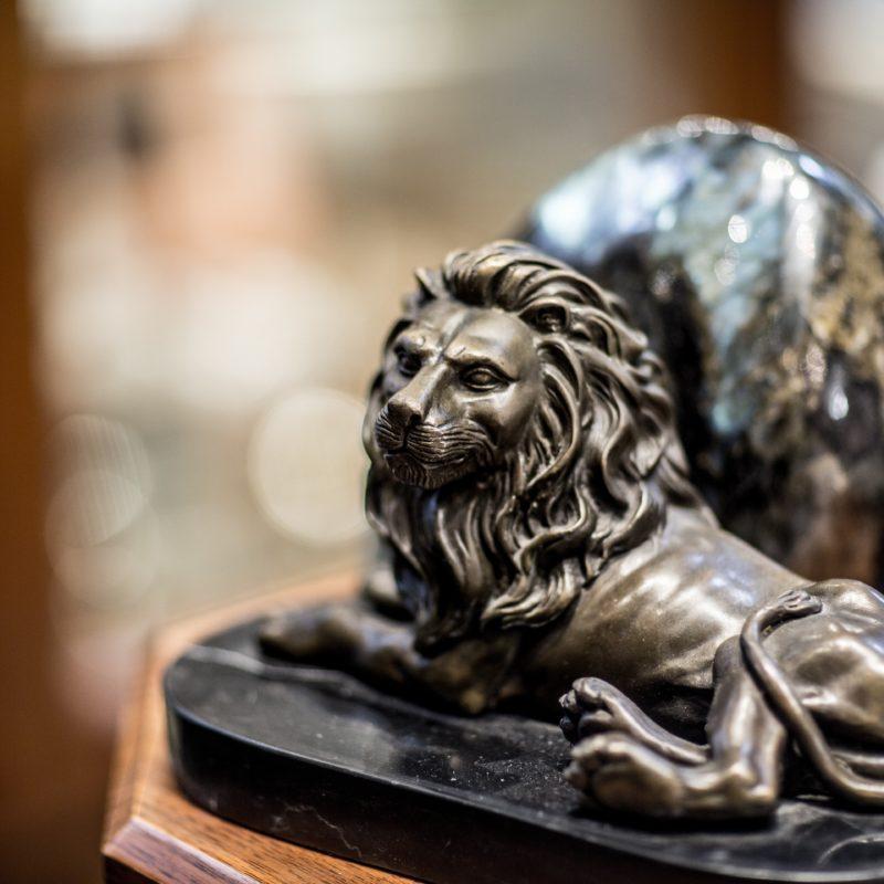 Gray Reid Gallery Bronze Lion Sculpture