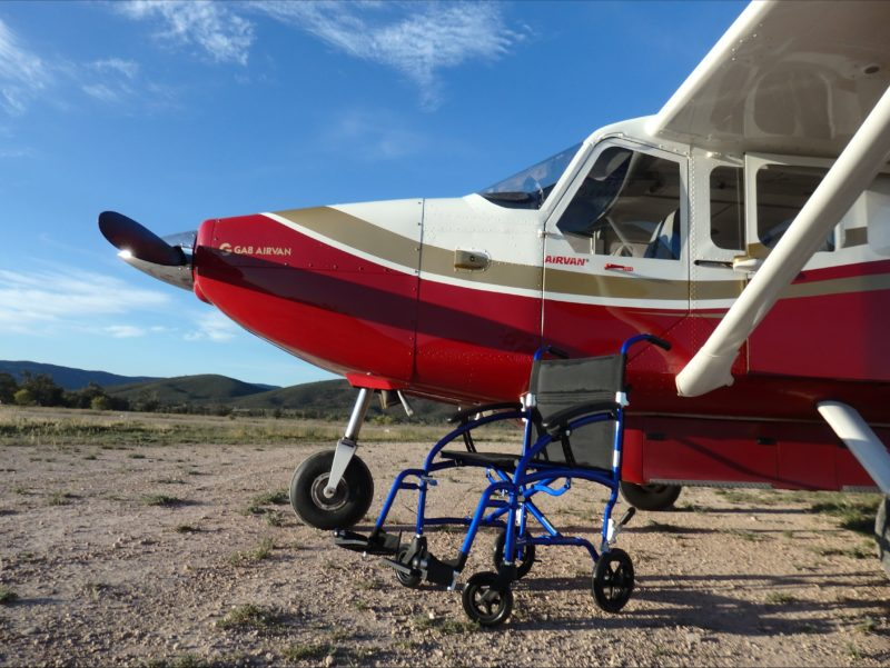 The Airvan in an outback location