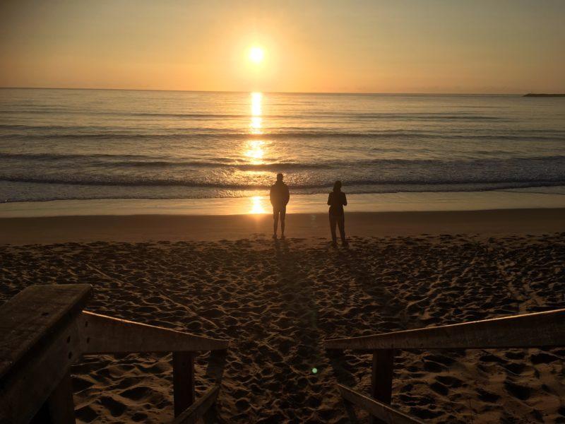 Morning sunrise at Apollo Bay main beach