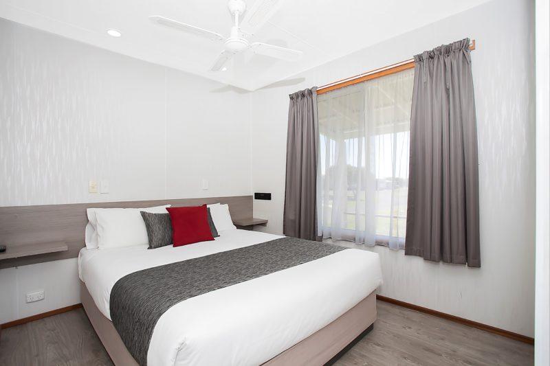 Spa cabin master bedroom