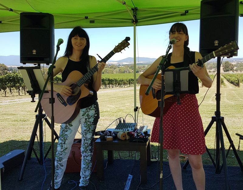 Little Sister performing at Greenstone Vineyards