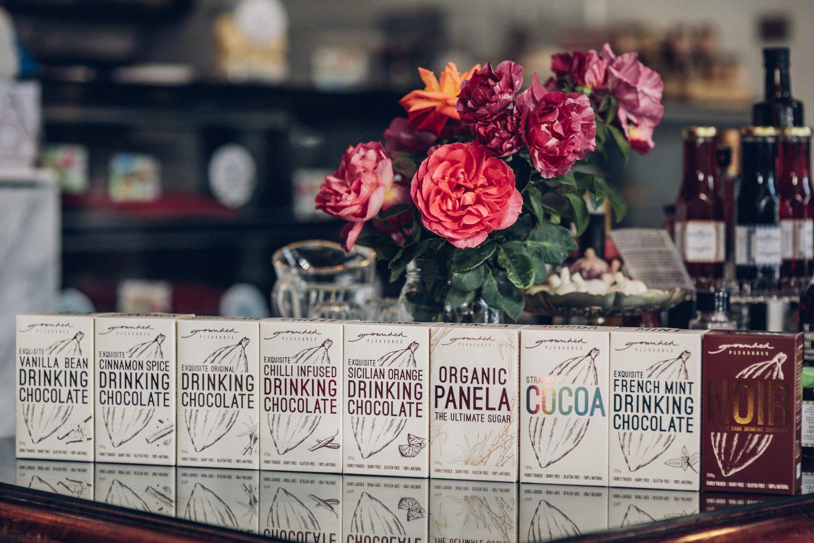 Grounded Pleasures range of exquisite drinking chocolates