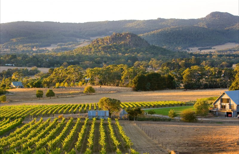 View of Hanging Rock from Hanging Rock Winery