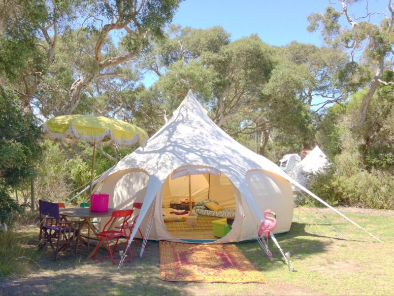 Lotus Belle glamping by Happy Glamper on the Mornington Peninsula