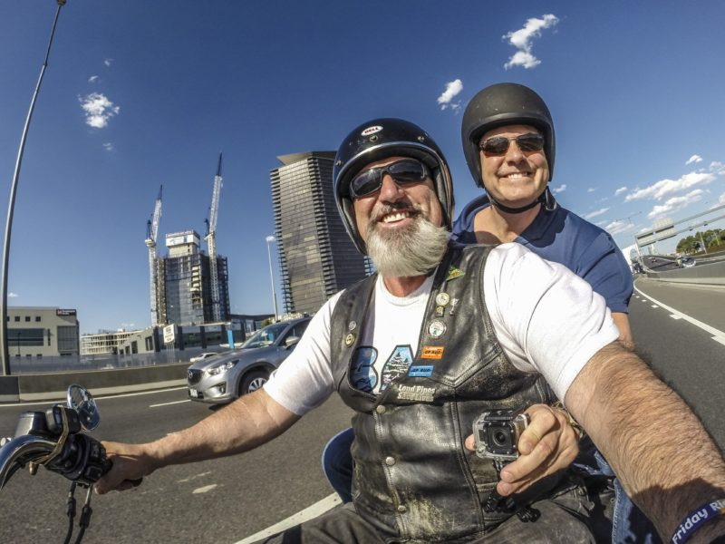 Riding on the back of a genuine Harley Davidson motorcycle allows you to see more