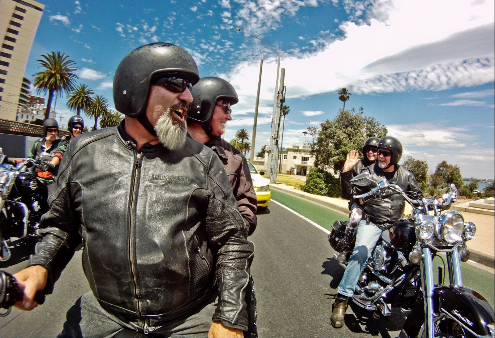 Sharing a Harley Davidson Ride with friends