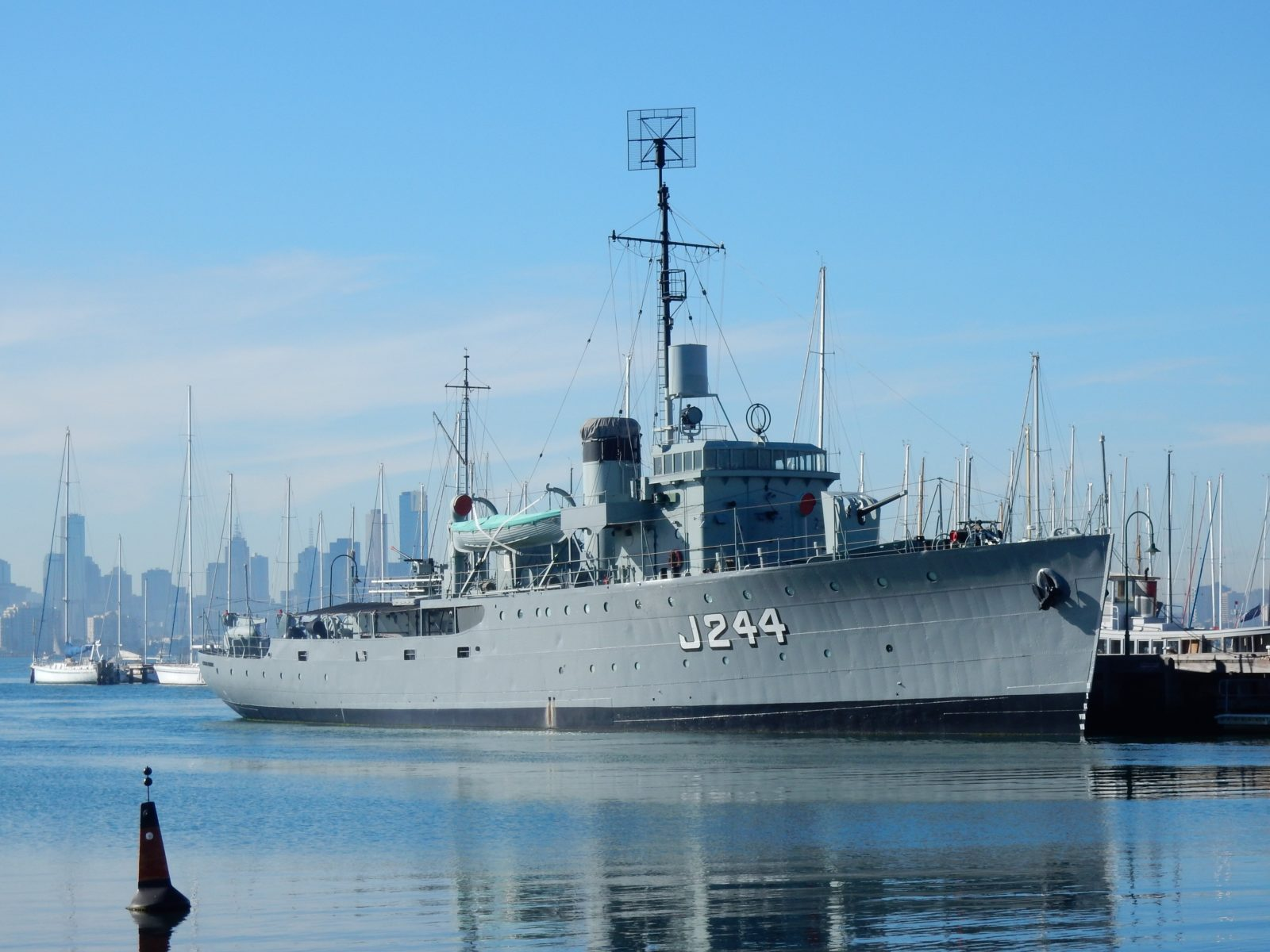 HMAS Castlemaine Museum Ship at Gem Pier Williamstown 2016