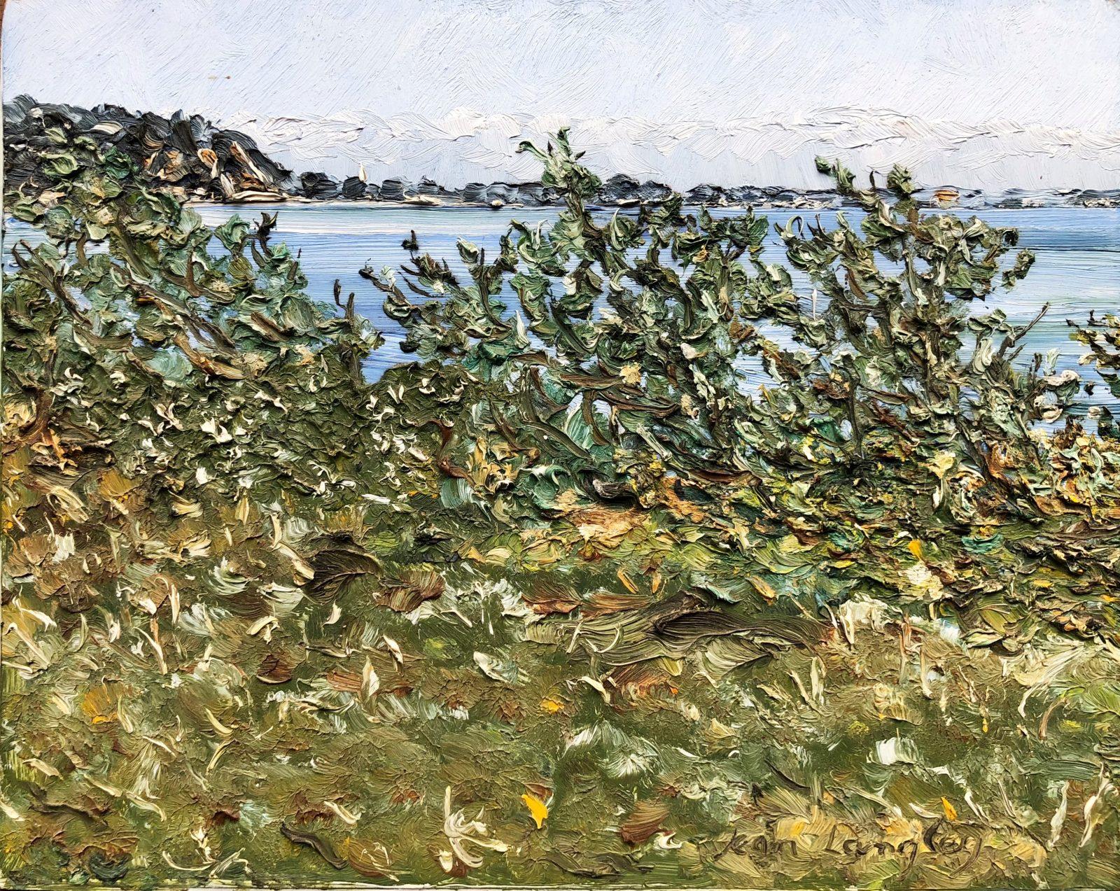 Jean Langley, untitled, oil on board