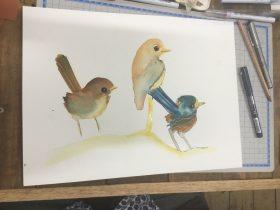 Watercolour workshop samples
