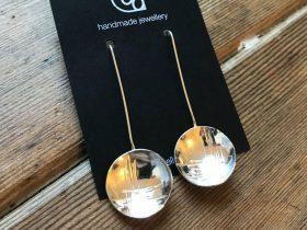 Textured Silver Earrings - Intensive Beginners Jewellery Making Short Course - Pod Jewellery