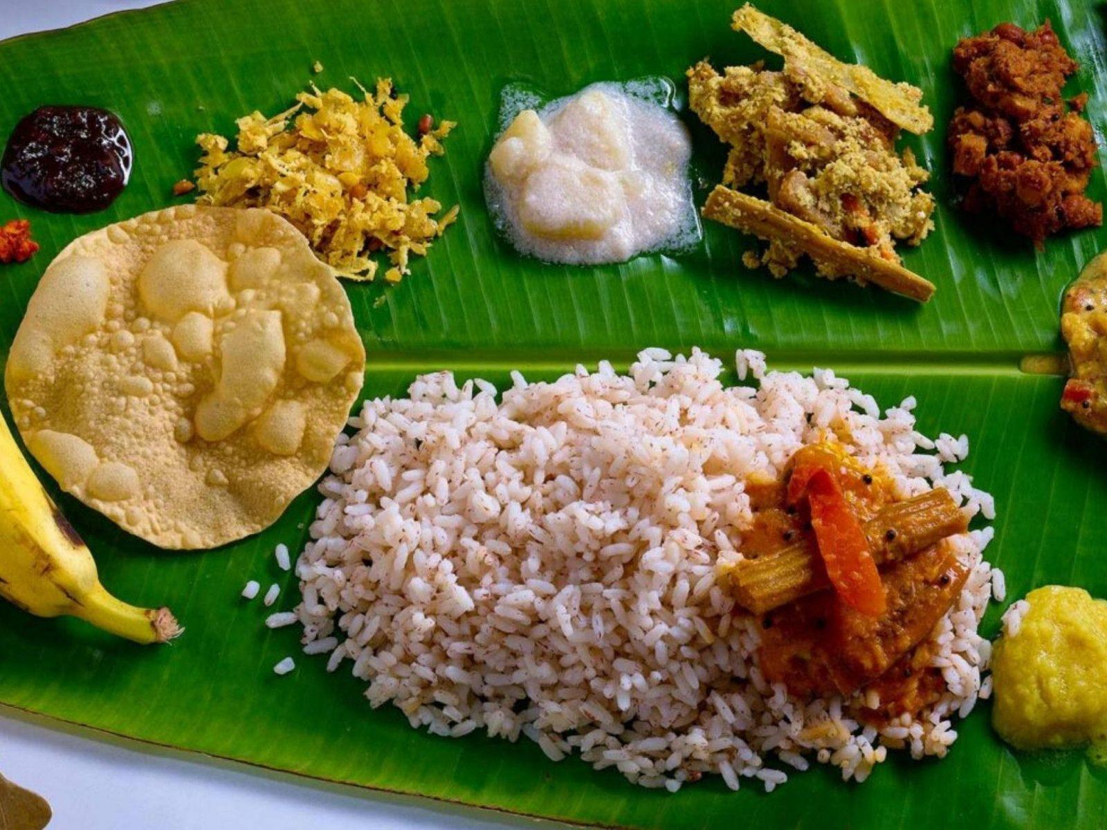South Indian banana leaf banquet