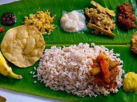 South Indian banana leaf banquet
