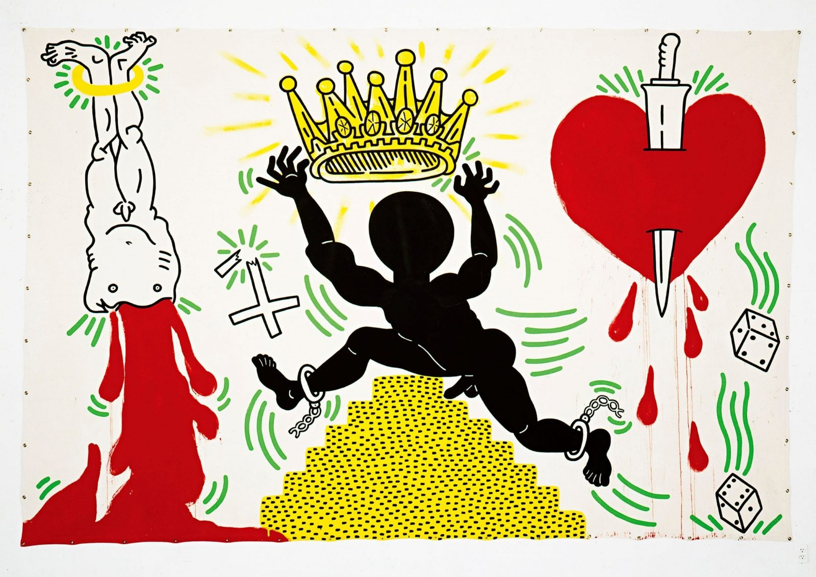 Keith Haring Prophets of rage 1988 acrylic on canvas 304.8 x 457.2 cm The Keith Haring Foundation