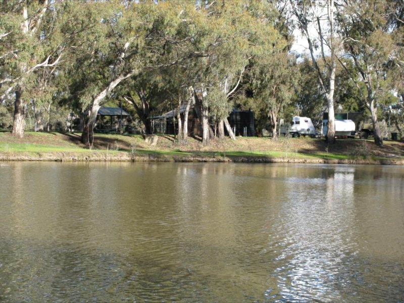 on the banks of the Loddon River