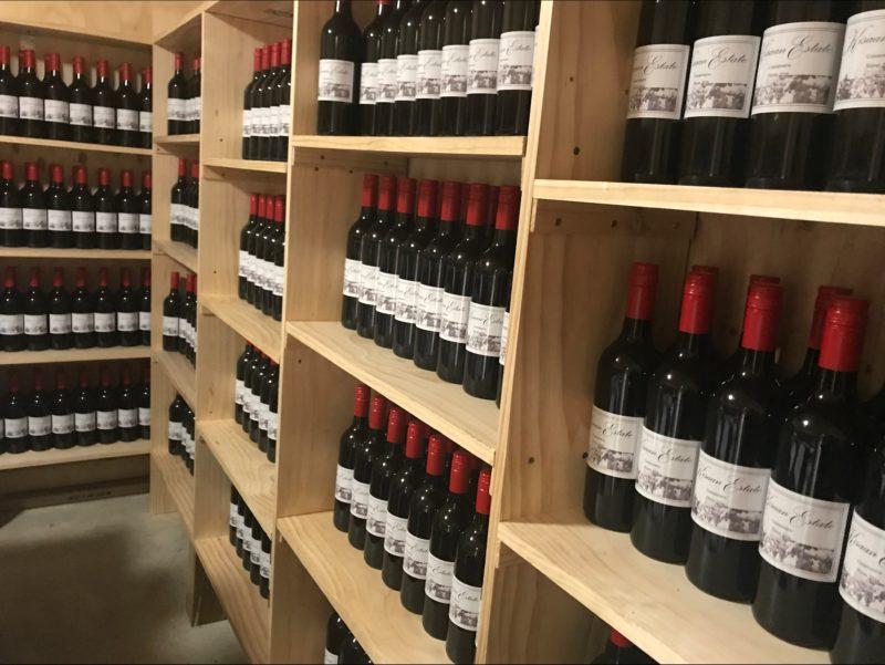Kisaan Estate Winery Cellar