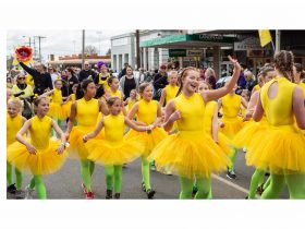 Steps Performing Arts dance in the Daffodil & Arts Parade